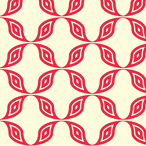 red_wave fabric by holli_zollinger on Spoonflower - custom fabric