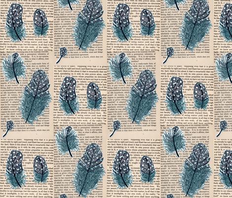 5 feathers fabric by aprilmariemai on Spoonflower - custom fabric