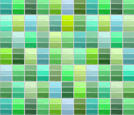 Paint Chips With Names Green Fabric Weavingmajor