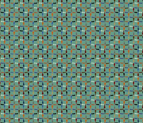 tinytiesblue fabric by wendymoon on Spoonflower - custom fabric