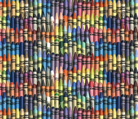 Neverending Box of Jumbo Crayons fabric by weavingmajor on Spoonflower - custom fabric