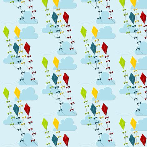 Primary Kites fabric by ninjaauntsdesigns on Spoonflower - custom fabric
