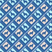 Blue Newfy triangle fabric