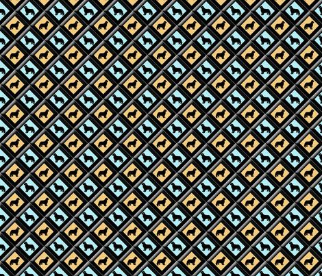 Newfy triangle fabric  fabric by dogdaze_ on Spoonflower - custom fabric