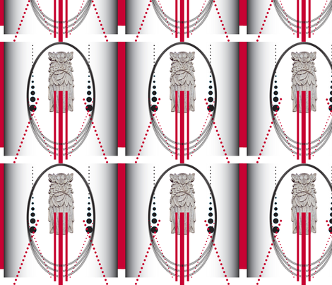 Deco_Oval WALL-4 fabric by pad_design on Spoonflower - custom fabric