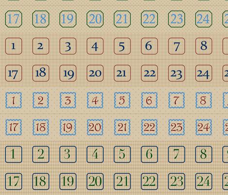 Custom Calendar A fabric by sarahb on Spoonflower - custom fabric