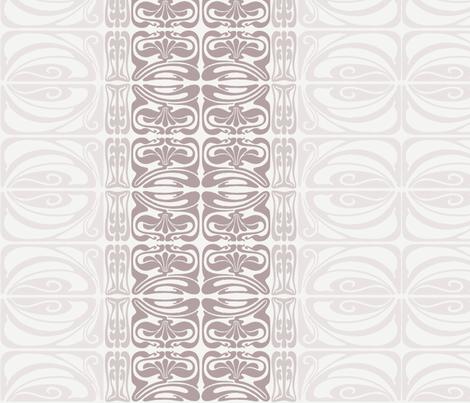 Flora Ornamental Stripe Neutral fabric by dolphinandcondor on Spoonflower - custom fabric