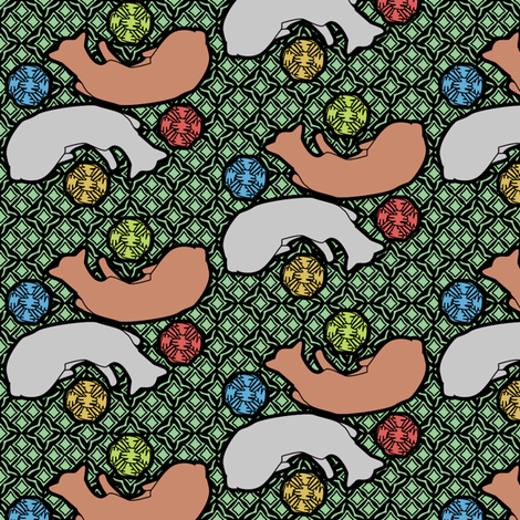sleeping kitties fabric by glimmericks on Spoonflower - custom fabric