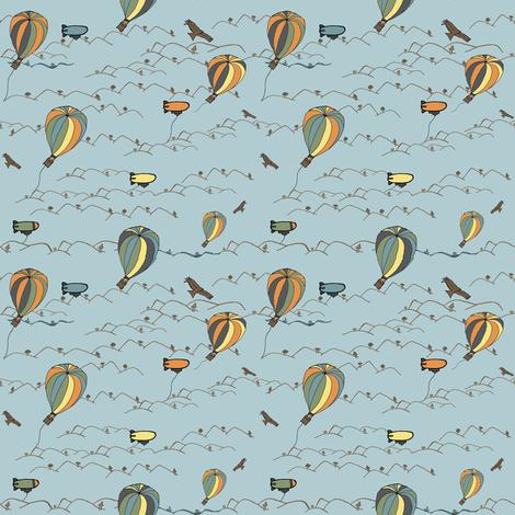 hot air balloon kites fabric by luluhoo on Spoonflower - custom fabric