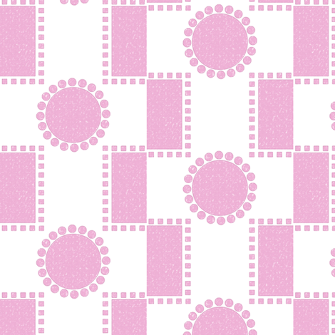 How to fit a round peg in a square hole -- orchid pink fabric by bargello_stripes on Spoonflower - custom fabric