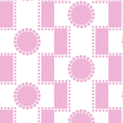 How to fit a round peg in a square hole -- orchid pink