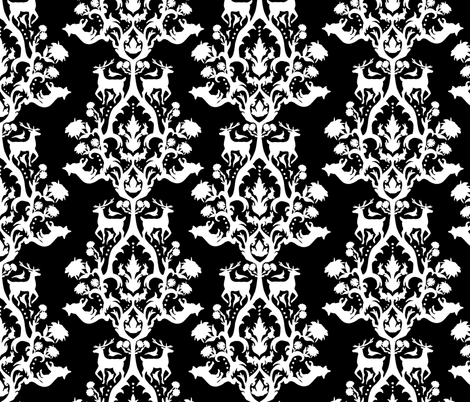 victorian_block_animals_invert fabric by lusykoror on Spoonflower - custom fabric