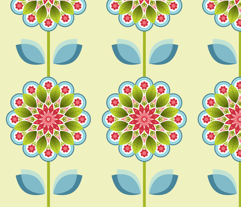 Fiesta Floral fabric by thepatternsocial on Spoonflower - custom fabric