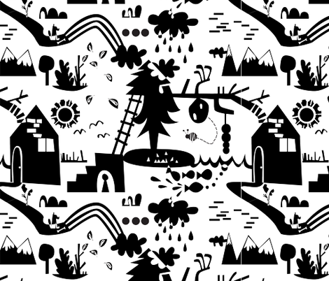 Flora, Fauna, Me, and You.  fabric by gsonge on Spoonflower - custom fabric