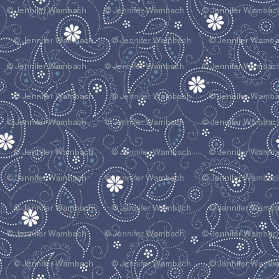 Blues: Paisley pattern