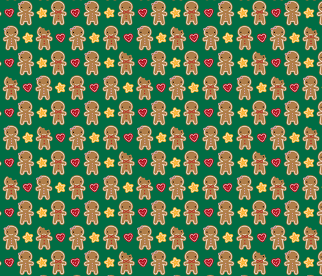 Cookie Cute Christmas fabric by marcelinesmith on Spoonflower - custom fabric