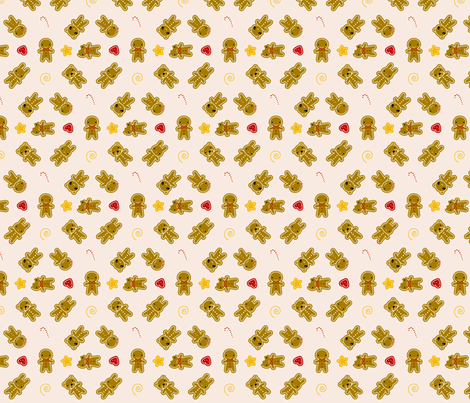 Tiny Cookie Cute fabric by marcelinesmith on Spoonflower - custom fabric