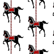Black Carousel Pony II.
