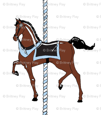 Blue Boy's Carousel Pony
