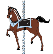 Blue Boy's Carousel Pony