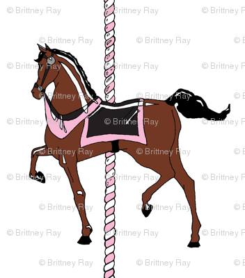 Pink Girl's Carousel Pony