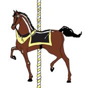 Yellow Carousel Pony