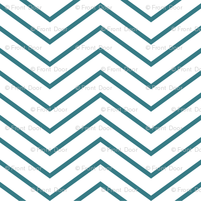 Chevron On and On: Skinny Teal