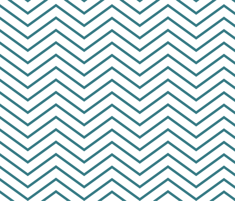 Chevron On and On: Skinny Teal fabric by frontdoor on Spoonflower - custom fabric