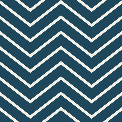 Chevron On and On: Navy fabric by frontdoor on Spoonflower - custom fabric