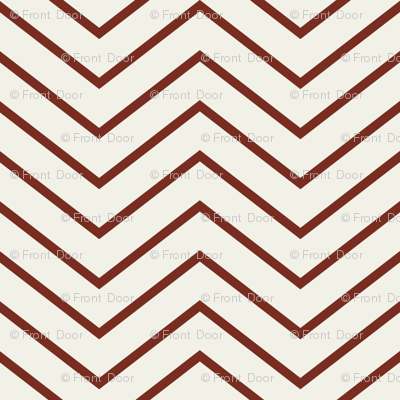 Chevron On and On: Skinny Red