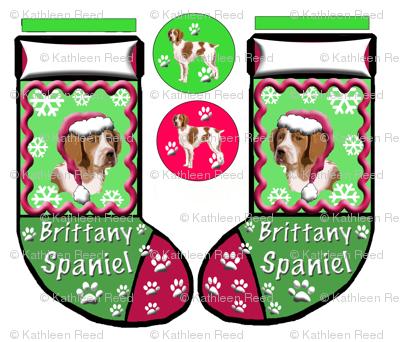 BRITTANY_SPANIEL_CHRISTMAS_STOCKING