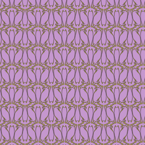nouveau twilight fabric by glimmericks on Spoonflower - custom fabric