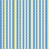 Plaid: light blue, white and yellow