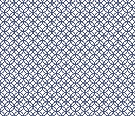 Blues: Circles fabric by jennartdesigns on Spoonflower - custom fabric
