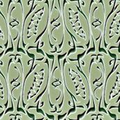 glyphic incised celadon