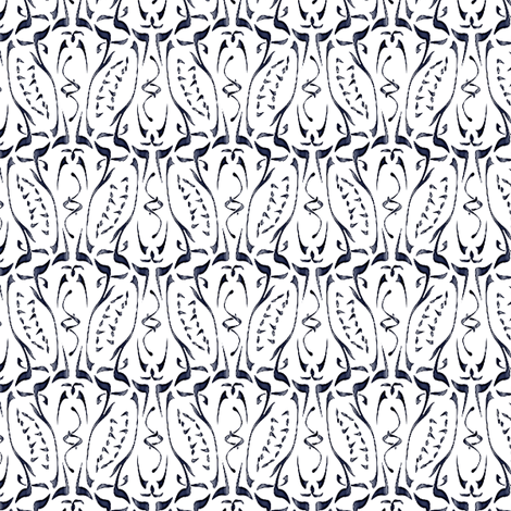 glyphic delft fabric by glimmericks on Spoonflower - custom fabric