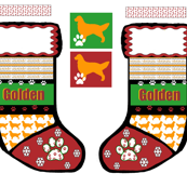 Golden Retriever Christmas Stocking cut and sew pattern