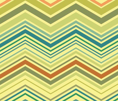 zig zag aqua fabric by littlerhodydesign on Spoonflower - custom fabric