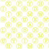 typewriter acid yellow on white