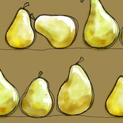 Sketch Fruit - Pears