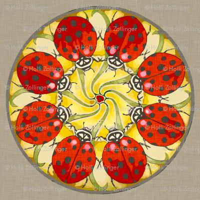 ladybug_mandala_linen