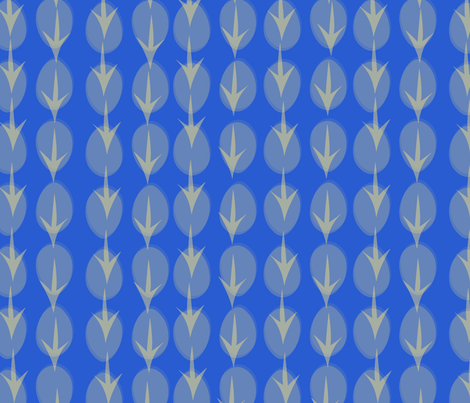 Hens Eggs in Blue fabric by pininkie on Spoonflower - custom fabric