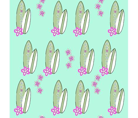 surfer_girl_blue_lilac fabric by carolinamud on Spoonflower - custom fabric
