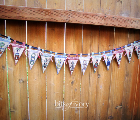 Twelve Days of Christmas Christmas Pennant Pockets