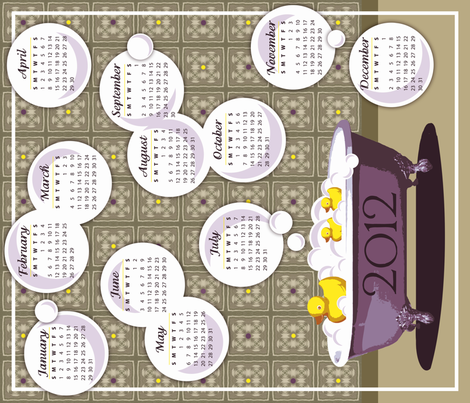 Get Your Ducks in a Row in 2012 fabric by run_quiltgirl_run on Spoonflower - custom fabric