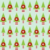 Retro Christmas Trees- Pale Green