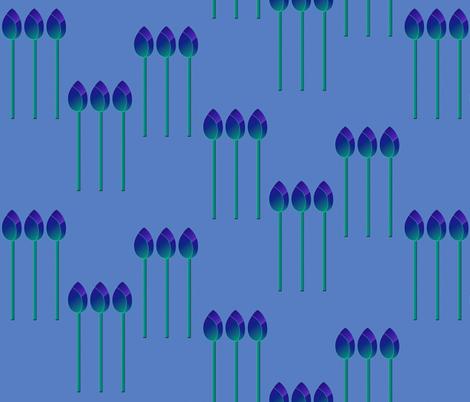 Tulip blues by Su_G fabric by su_g on Spoonflower - custom fabric