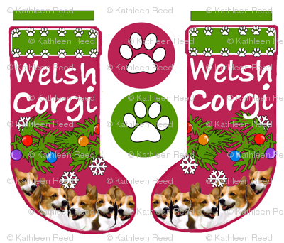 Pembroke welsh corgi cut and sew stocking pattern