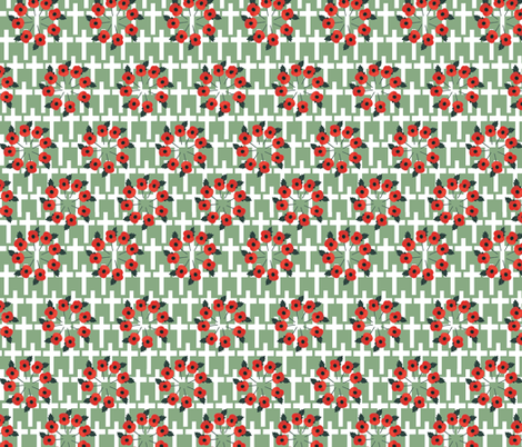 Remembrance Grey fabric by wednesdaysgirl on Spoonflower - custom fabric