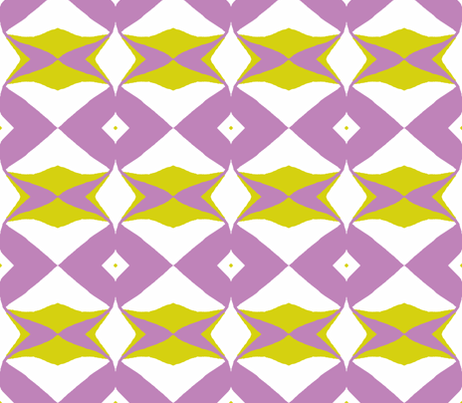 Sending the Wrong Signal-grape & chartreuse fabric by susaninparis on Spoonflower - custom fabric